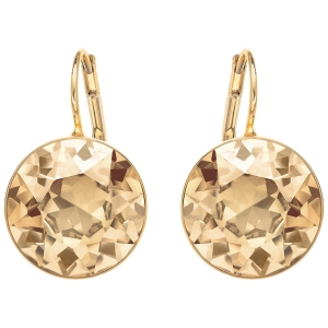 Swarovski: Bella Earrings, Golden, Gold Plated