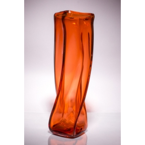 Andrew Iannazzi: Large Tonal Helix Vase, Orange