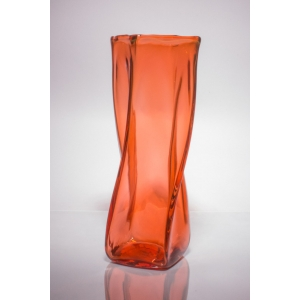 Andrew Iannazzi: Medium Tonal Helix Vase, Orange