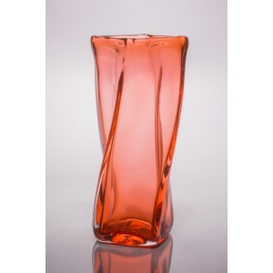 Andrew Iannazzi: Small Tonal Helix Vase, Orange