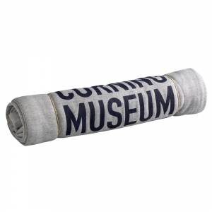 Corning Museum of Glass: Sweatshirt Blanket, Light Gray