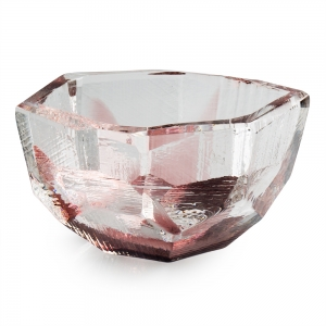 Vitreluxe Glass: Small Crystal Bowl, Violet