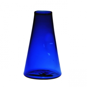 Chris Giordano: Large Cone Bud Vase, Cobalt Blue