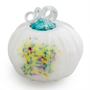 Chrissy Lapham: Color Burst Purple & Teal Pumpkin