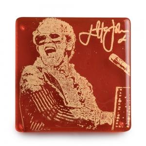 Kiku Handmade: Elton John Coaster