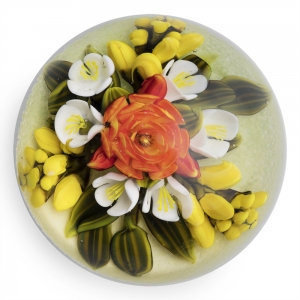 Cathy Richardson: Orange, Yellow, & White Bouquet Paperweight