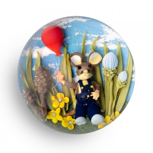 Clinton Smith: Mouse with Balloon Paperweight