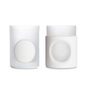Tom Dixon: Carved White Stem Vases, Set of 2