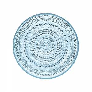 Oiva Toikka: Medium Kastehelmi Plate, Light Blue