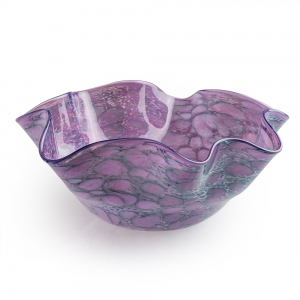 Vitrix Hot Glass Studio: Small Floppy Bowl, Purple