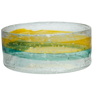 Adam Goldberg: Large Watercolor Bowl, Gold & Green