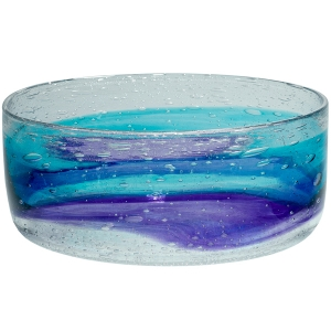 Adam Goldberg: Large Watercolor Bowl, Hyacinth & Aqua
