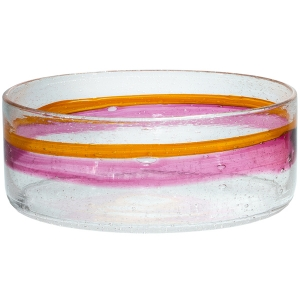 Adam Goldberg: Large Watercolor Bowl, Cranberry & Orange