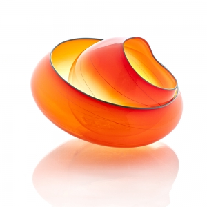 Chihuly Workshop: Mandarin Orange Basket, 2019 Studio Edition