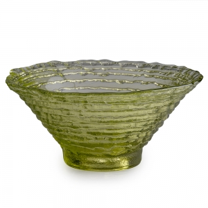 Hudson Beach Glass: Medium Epidavrous Bowl, Peridot