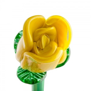 Long Stem Glass Rose