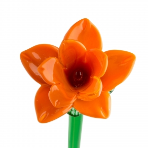 Long Stem Glass Daffodil