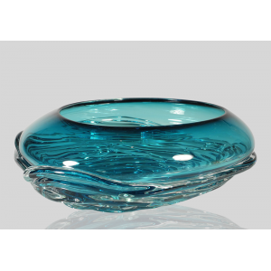 Kingston Glass Studio: Ripple Wave Bowl, Lagoon