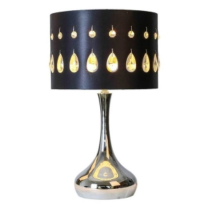River of Goods: Silver Crystal Noir Table Lamp