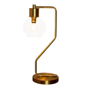 River of Goods: Brushed Gold Atom Table Lamp