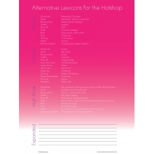 Suzanne Peck and Karen Donnellan: Alternative Lexicon Poster
