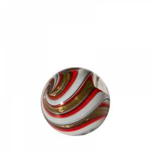 Mark Matthews: Banded Lutz Sphere, Gray & Red