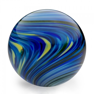 Mark Matthews: Reversing Twist Sphere, Blue
