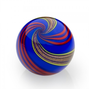 Mark Matthews: Banded Lutz Sphere, Cobalt Blue & Red