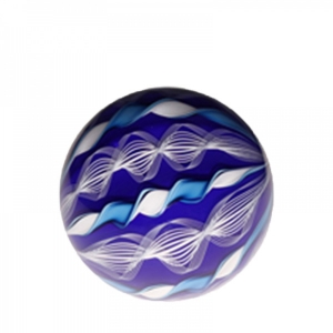 Mark Matthews: 12 Cane Filigrana Sphere, Blue