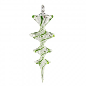 James Byrnes: Pirouette Ornament, Green & White
