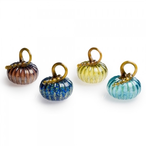 Vessel Studio Glass: Iridescent Pumpkin