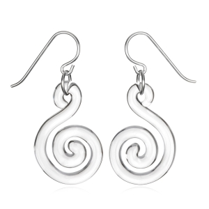 Roxann Astra Slate: Flat Spiral Earrings