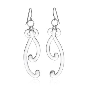 Roxann Astra Slate: Paisley Curve Earrings