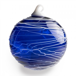 Vitrix Hot Glass Studio: Trail Ornament, Blue
