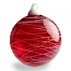 Vitrix Hot Glass Studio: Trail Ornament, Red