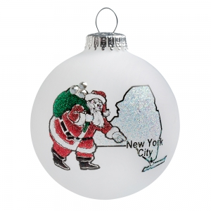 Heart Gifts by Teresa: NY Santa Ornament