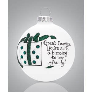 Heart Gifts by Teresa: Great Grandpa Present Ornament