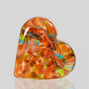 Kingston Glass Studio: Sweet Heart Paperweight, Pink
