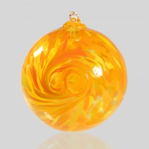 Kingston Glass Studio: Friendship Ball, Orange