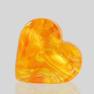 Kingston Glass Studio: Sweet Heart Paperweight, Orange
