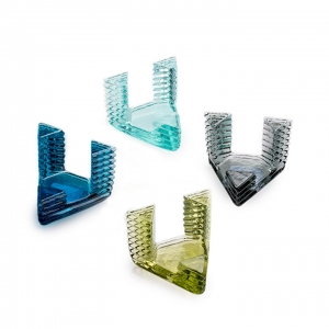 Hudson Beach Glass: Rib Dock, Sapphire