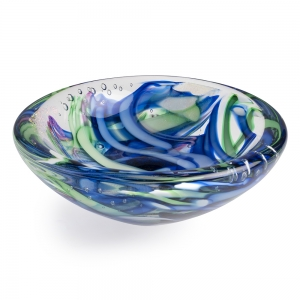 Tropical Iceberg Glass: Small Round Dish