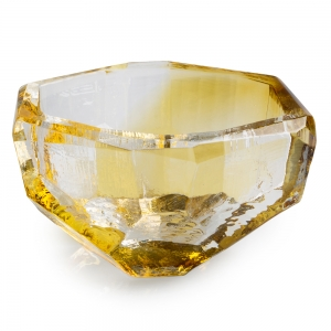 Vitreluxe Glass: Medium Crystal Bowl, Amber