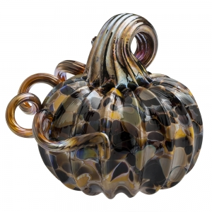 Vitrix Hot Glass Studio: Pumpkin Paperweight, Camouflage