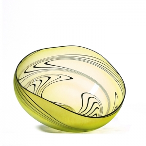 Welmo Glass Studio: Zig Zag Bowl, Gold