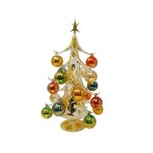 "Gift Essentials: 15"" Golden Ornament Tree"
