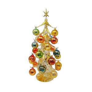 "Gift Essentials:  20"" Golden Ornament Tree"