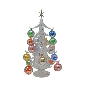 "Gift Essentials: 15"" Silver Ornament Tree"