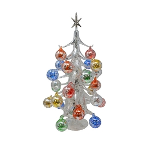 "Gift Essentials: 20"" Silver Tree with ornaments"