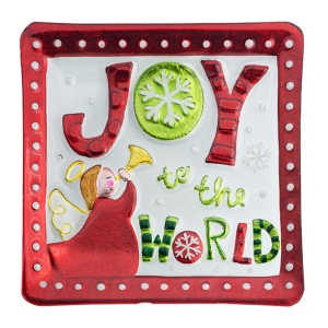 LS Arts: Joy to the World Square Platter